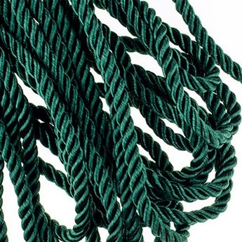 Шнур витой (крученый) 5 мм, цвет изумрудный