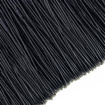 Шнур хлопок плетеный, цвет черный 1 мм