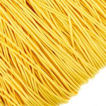 Шнур синтетический плетеный, цвет желтый 1 мм, 1м.
