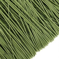 Шнур хлопок плетеный, цвет оливковый 1 мм