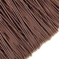 Шнур синтетический плетеный, цвет темно-коричневый 1,2 мм, 1м.