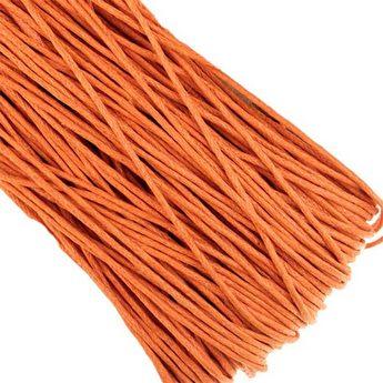 Вощеная нить, цвет оранжевый, 1 мм
