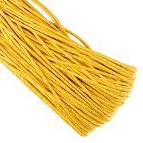 Вощеная нить, цвет желтый, 2 мм, 1м