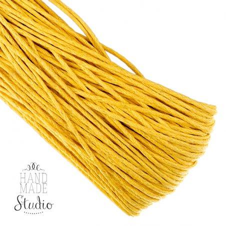 Вощеная нить желтая, 1 мм