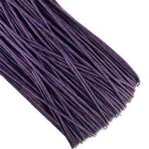 Вощеная нить, цвет фиолетовый, 1 мм