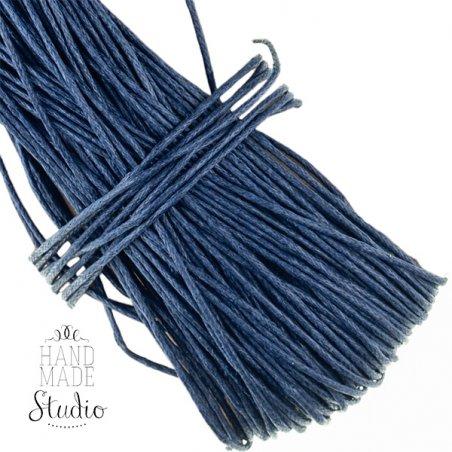 Вощеная нить, цвет темно-синий, 1 мм