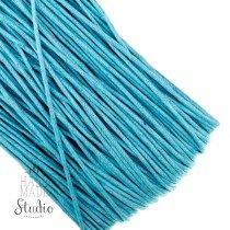 Вощеная нить, цвет яркий голубой, 1 мм