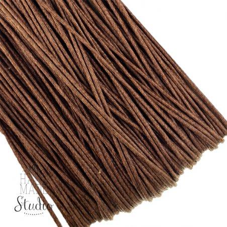 Вощеная нить, цвет коричневый, 1 мм