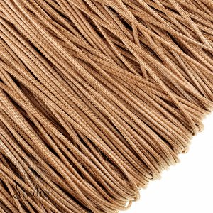 Шнур хлопок плетеный, цвет бежевый 1 мм