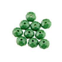 Бусины чешский хрусталь, цвет зеленый, не прозрачный №6