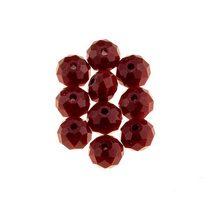 Бусины чешский хрусталь 8 мм, цвет красный, не прозрачный №8