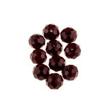 Бусины чешский хрусталь 8 мм, цвет вишневый, не прозрачный №9