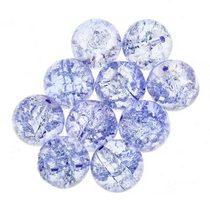 №39 Бусины с эффектом битого стекла синие, 12 мм