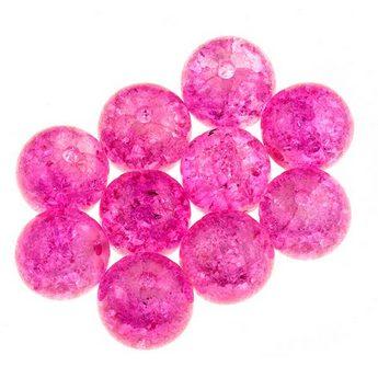 №1 Бусины с эффектом битого стекла розовые, 12 мм