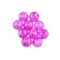 №100 Бусины с эффектом битого стекла ярко-розовые,10 мм