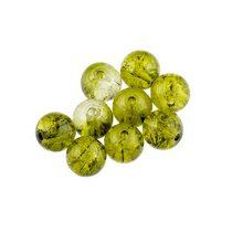 №101 Бусины с эффектом битого стекла оливковые, 8 мм