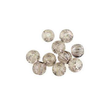 №94 Бусины с эффектом битого стекла серые, 6 мм