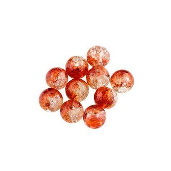 №32 Бусины с эффектом битого стекла прозрачно-оранжевые, 6 мм