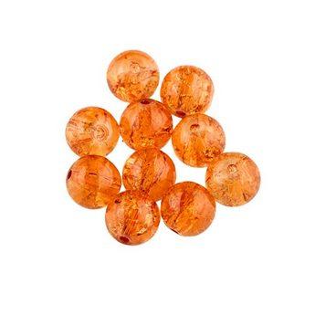 №118 Бусины с эффектом битого стекла оранжевые, 6 мм
