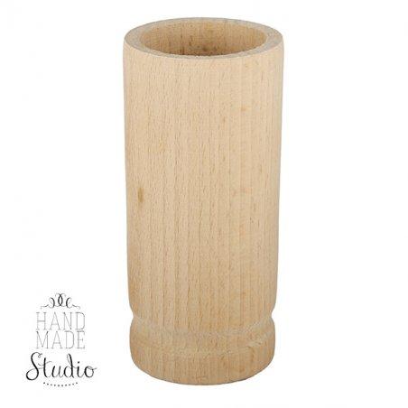 Деревянный стакан-подставка