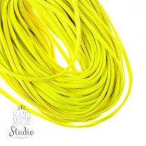 Замшевый шнур, цвет яркий желтый, толщина 2,5  мм