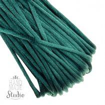 Шнурок шелковый, цвет изумрудный, 3 мм