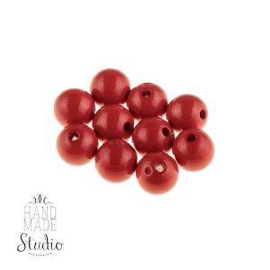 Пластиковые бусины, цвет темно-красный, 0,6 см, №7