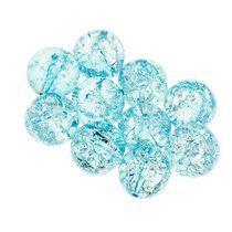 №109 Бусины с эффектом битого стекла  голубые, 10 мм
