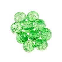 №6 Бусины с эффектом битого стекла светло-зеленые, 1 см, 10 шт