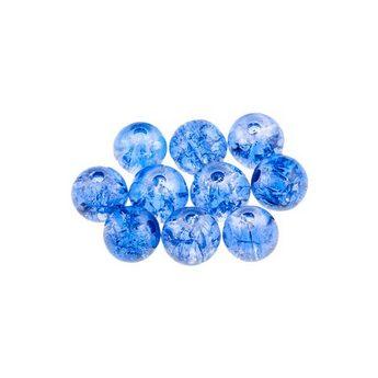 №35 Бусины с эффектом битого стекла синие, 8 мм