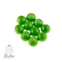 Бусины керамика,  цвет - зеленое яблоко,  0,8 см