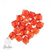 Пластиковые бусины прозачные, граненые, цвет красный, 1 см №57