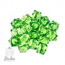 Пластиковые бусины прозрачные зеленые  №55, 1 см