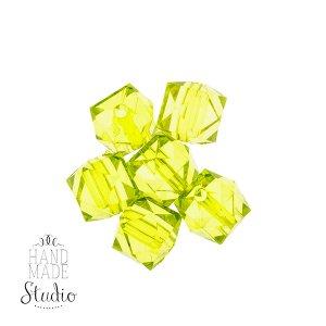 Пластиковые бусины салатовые прозрачные №53, 1,5 см