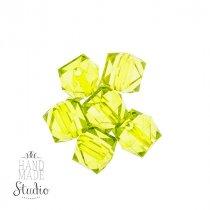 Пластиковые бусины прозрачные салатовые  №53, 1,5 см