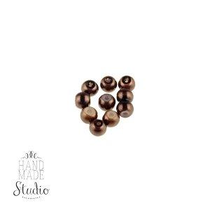 №23 Бусины под жемчуг стеклянные, цвет шоколадный, 4 мм,