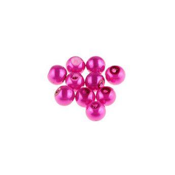 №36 Бусины под жемчуг стеклянные, цвет малиновый, 6 мм,