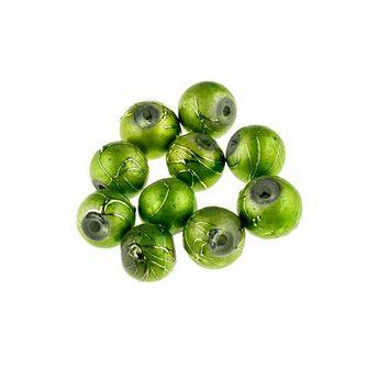 Бусины опаковое стекло, цвет зеленый, 8 мм, №22