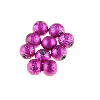 Бусины опаковое стекло, цвет малиновый, 8 мм, №25