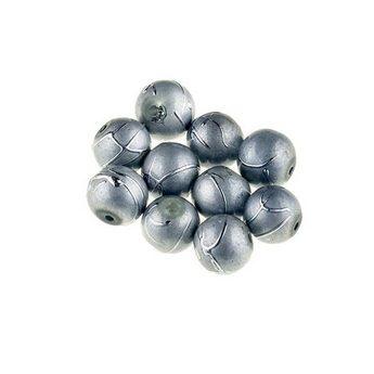 Бусины опаковое стекло, цвет серый, 6 мм, №8