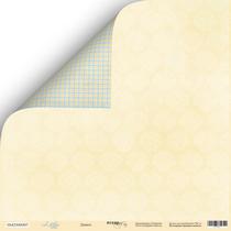 "Лист двусторонней бумаги 30x30 ""Дамаск из коллекции Little bear"",  190г/м2, 1 лист"