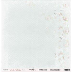 "Лист односторонней бумаги 30x30 Бабочки из коллекции Леди Шебби"""