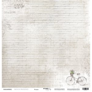 "Лист односторонней бумаги 30x30 ""Кладка из коллекции French Provence"""