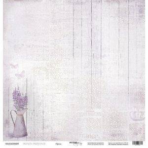 "Лист односторонней бумаги 30x30 ""Проза из коллекции French Provence"""