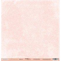 """Лист односторонней бумаги 30x30 """"Розовый узор из коллекции Нежность"""""""