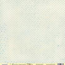 """Лист односторонней бумаги 30x30 """"Синий горошек из коллекции Корица"""", 190г/м2, 1 лист"""