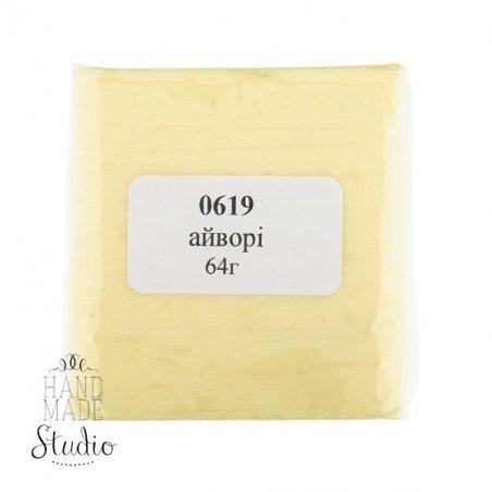 полимерная глина пластишка Lema пастель, айвори №0619, 64 г