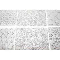 """Набор текстурных листов """"Весёлые мотивы"""" 25,3*17,7 см (6 шт)"""