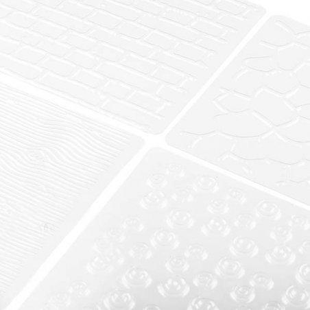 """Набор текстурных листов """"Фактурные мотивы"""" 30,5*15,5 см (4 шт)"""