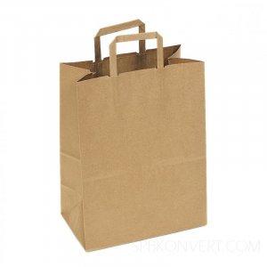 Бумажные пакеты из крафт-бумаги с плоскими ручками